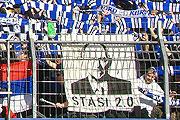 Stasi 2.0 - Fahne beim Auswärtsspiel in Karlsruhe